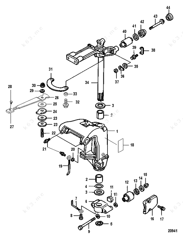 15 hp 4 stroke evinrude parts diagram