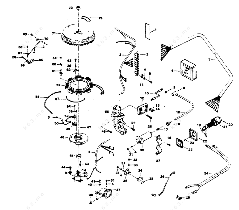 chrysler 45 1984  alternator and electrical components