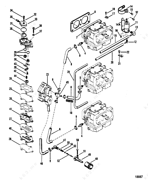 old johnson outboard parts diagram